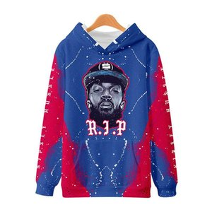 Hot Mens Sweatshirts 3D Digital Printed With Hat Hip Hop Rapper Fshion Casual Homme Clothing RIP Nipsey Hussle