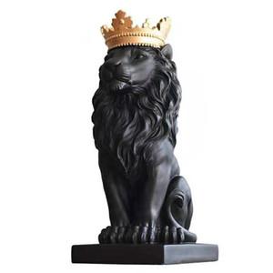 [MGT] Estratto resina Leone Scultura Corona leone statua Artigianato Tatuaggi Re Leone Modle Accessori per la casa Decorazione Regali