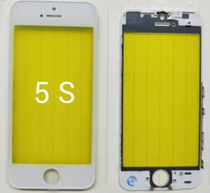 Front Touch Screen Panel Outer Glass Lens with Cold Press Middle Frame Bezel Screen Replacement For iPhone 5 6 6s 7 8 plus LCD glass min200