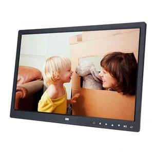 "15"" HD-экран, сенсорный кнопки цифровой фото рамка будильник MP3/4 видео видео-плеер с спикер музыки воспроизведение фото рамка T200320"