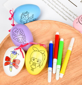 Easter Egg Painting Kit fai da te Penne acquerelli Easter Hunt Basket Stuff Fillers Aula Forniture per premi Filling Treats Party Favor Presents