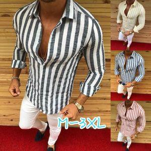 Mens camicia convenzionale degli uomini Vestito a righe casuale del progettista camice di lusso Regular Fit Camicia
