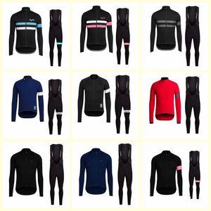 RAPHA team Cycling Long Sleevess Jerseys (bib) Autumn quick dry Long Sleeve Cycling Clothing Road Bicycle Sportswear B617-22