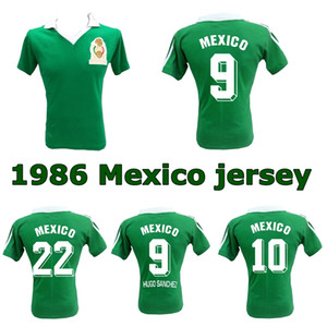 1986 World Cup Mexico Retro Soccer Jersey 86 Mexico National Team Hugo Sanchez Negrete Classic Vintage Camicia da calcio