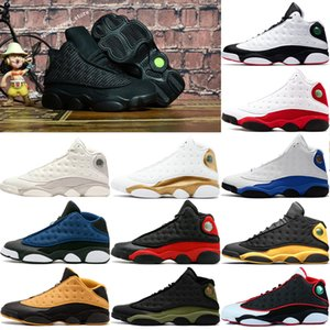 Air jordan retro 13 mens 13 13s zapatos de baloncesto gato negro DMP He Got Game Chicago Olive Altitude Playoffs Love Respect Hyper Royal Sport Sneakers EE.