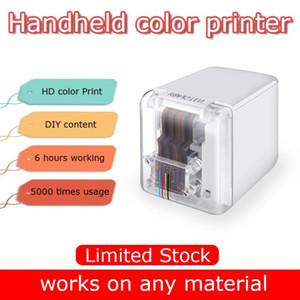 Handheld impressora móvel sem papel Multi-superfície tatuagem foto código logotipo padrão de barra mbrush Impressora portátil MINI Cor