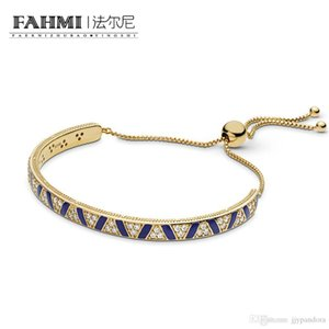 HYWo 100% 925 sterling silver charming Shine Stones and Stripes Sliding Bangle Women's Glamour Jewelry Free Shipping Wholesale