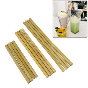 Natürliche Bambusstroh 195/200 / 230cm Gelb Grün Wiederverwendbare Biodegradable Strohhalme Eco Friendly gesundes Getränk Straw für Hochzeit Bar Werkzeuge