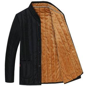 Giacca da uomo in cotone foderato autunno e inverno Giacca da uomo in felpa con cappuccio da uomo di mezza età taglia XL-3XL
