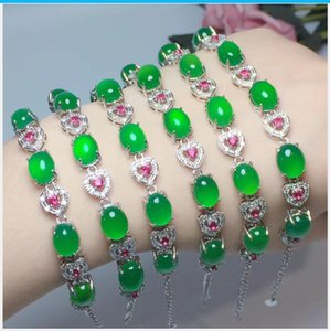 Natural colours diamond-encrusted bracelet free shipping, 925 silver X011
