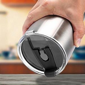 30 once Colorful perfetta tenuta coperchio Splash Spill Proof Stemless Cup coperchio trasparente di isolamento Seal coperchi della copertura della tazza riutilizzabile in plastica Coppa coperchi VT0307