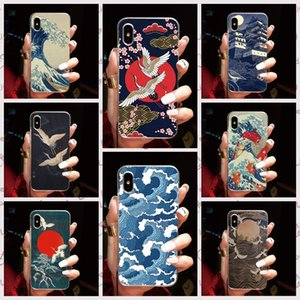 Case For One Plus 8 8 PRO 5G 7 7T 6 6T 5 5T X 3 3T 2 one Back Cover Cartoon Wave Art Japanese Soft TPU Silicone Cell Phone Case