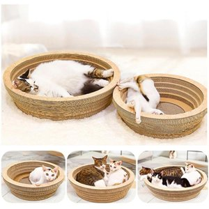 Corrugated Paper Cat Kitten Cardboard Scratcher Scratching Board Pad Bowl Sofa Bed Mat Rest Lounge Interactive Toy AAA1103