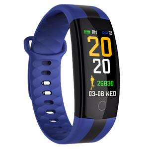 QS01 Smart-Armband Fitness Tracker Blutdruck-Puls-Monitor-Smart Watch wasserdichte intelligente Armbanduhr für iPhone und Android iOS Telefon