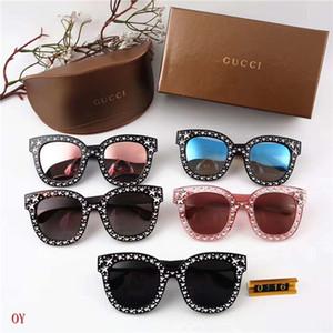 2019 nuevas gafas de montura grande 0116 gafas de sol estilo estrella de diamantes de moda para mujer gafas de sol al aire libre de verano pueden ser al por mayor