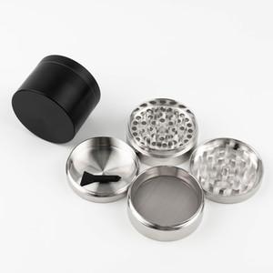 Herb Grinder 55mm 4 couches Grinder métal Zicn alliage pour dents cnc filtre net vapeur de vaporisation stylo vaporisateur herbe sèche