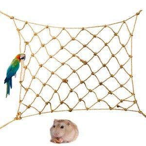 Pájaro del loro de la cuerda de cáñamo Para Suba red gruesa cuerda del cáñamo Bird Juguetes hámster Pequeño General Animales domésticos Propósito Suba Red