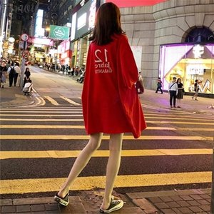 Harajuku Cool Girl Letter Print Tshirt Big Size Long T Shirt Femme Summer Punk White Top For Korean Style Loose Tee