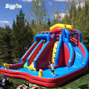 Günstige Große Aufblasbare Wasserpark Slides Big Pool Juegos Inflables Tobogan Slide Pool für Kinder Spiele