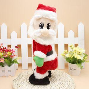 새로운 스타일의 댄스 크리스마스 전기 산타 클로스 장난감 동적 엉덩이 흔들림 음악 인형 장난감 크리스마스 장식 선물