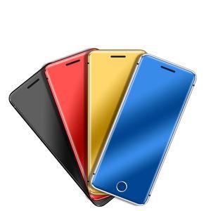 V66 + entriegelte Mini Card Phone Ulcool BT Dialer 2.0 Ultra Slim Metallgehäuse Handy FM Radio Doppel-SIM Kleines Handy für Smartphones