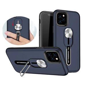 Silikon-Finger-Ring-Kasten für iPhone 11 Pro Max XS Max XR X XS 6S 7 8 Plus des neuen Entwurfs Bracket Metall Ständer Abdeckung Shell