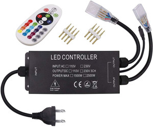 الصمام الخفيفة RGB المراقب عن بعد، AC 110V / 230V 1500W 2500W LED قطاع النيون حبل ضوء يعتم التبديل، والجهد العالي لاسلكي للتحكم عن بعد