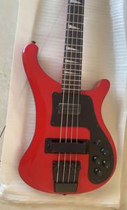 4 Strings Kırmızı 4003 Bas 4003 Siyah Donanım Elektrik Bas Gitar Mono Stereo Çıkış Gülağacı Klavye Üçgen MOP Kakma Çin Ric Bass kırmızı