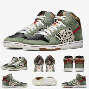 Nuovo arriva alta qualità SB Dunk High Dog Walker scarpe da basket per la Mens Nero Verde formatori progettista sport di marca delle scarpe da tennis formato 40-46