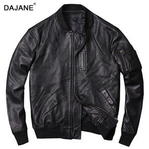 pilots in the spring and autumn single genuine leather jacket Restoring ancient ways is washed goatskin genuine leathe