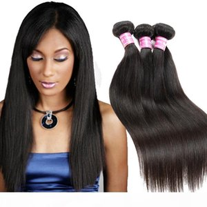 Ein malaysischer Jungfrau-Menschenhaar Weaves peruanische Gerade nasses und wellenförmiges Haar-Bundles Natural Color Dhgate .Com Fach Vendors Haar Bu