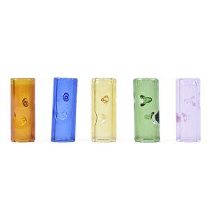30mm ile Renkler Mini Cam Filtre İpuçları Boyut * Kuru Ot Tütün RAW Rolling Papers Kalın Pyrex Cam 12mm Sigara Filtresi Tüp Tutucu