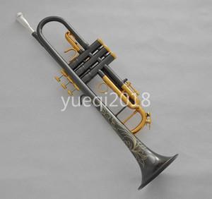 Unbranded латуни Bb труба черного никель Позолоченной Поверхность B Плоской Труба музыкального инструмента может Настраиваемый логотип с Case мундштуком