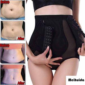 Taille haute taille formateur M-2XL ferme contrôle du ventre contrôle Body Shaper sous-vêtements sans soudure Thong Lifter Butt Plus la taille Sexy Shapewear XXL