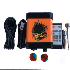 M-Nail Menovo Elétrica Enail Prego Controle Remoto Dabber Caixa de Controle de Temperatura Com Ti Prego Carb Cap Tubos De Água Bong Wax Vaporizador