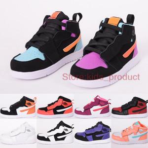 Quello che Le scarpe multi-Colo 1 1S Mid Pallacanestro Kids 2020 delle ragazze delle scarpe da tennis Shattered Tabellone infrarossi 23 Toddler formatori Size 22-35