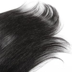 Brasilianische Jungfrau-Menschen seidiger gerade Haar-Verlängerungen Rohboden 140g 160g 180g # 1 # 1B Natural Color Voll Kutikula ausgerichtet Clip In