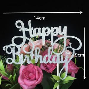 Wholesale-10pcs는 생일 케이크를 사랑한다 Topper Wedding Decoration Paper 반짝이 케이크 토퍼 결혼식은 Wedding SuppliesIf를 호의를 보인다