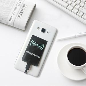 100pcs Qi Kablosuz Şarj Alıcı Kart Chip Adaptörü için Samsung HTC LG Mikro USB 5pin