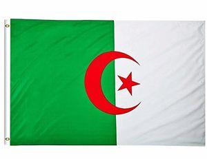 Bandera de Argelia 3x5FT 150x90cm la impresión del poliester cubierta colgante al aire libre de la bandera nacional vendedor caliente de latón con ojales Shippin