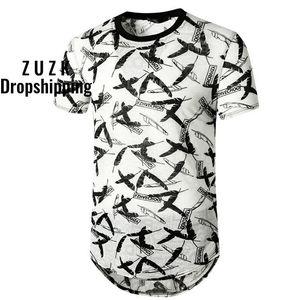 ZUZK Vintage Hip Hop Tshirt Men Women Summer Harajuku Feather Print Oversized T Shirt For Men Loose Streetwear Camisetas