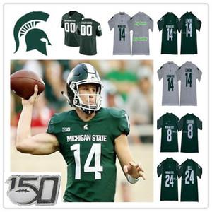 Männer Michigan State Spartans Fußball College Trikots Rocky Lombardi Brian Lewerke Lj Scott Kirk Cousins Leveon Bell Simmons Jalen Nagel