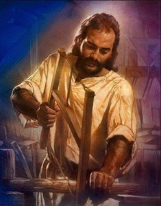 a046# Nathan Greene - THE CARPENTER Jesus Wood Shop Bible Artwork Home Decor HD Print Oil Painting On Canvas Wall Art Canvas Pictures 200109