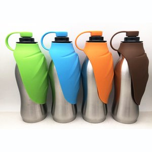 Stainless steel Dog Portable Water Bottle Convenient Dog Travel Water Bottle water bowlsKeeps Pets Hydrated! Includes Carry Strap
