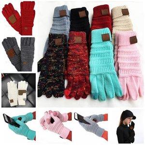 Luvas de tela de toque de malha Inverno tela de toque de telefone celular inteligente cinco dedos luvas 2 pçs / par NOVO GGA1221