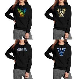 Kadınlar Villanova Wildcats Basketbol logosu boy eşofman Yün Sıcak Katı Renk kapşonlu Altın Gay gurur gökkuşağı Mermer Baskı ABD bayrağı