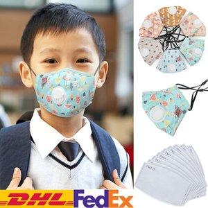 Children Kids 50pcs With Masks Washable Valve Filter Dustproof Reusable Breathable Masks Face Protective Cartoon Designer Cotton 002 Xtegw