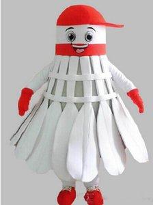 Custom Factory Badminton mascotte Costume adulte Taille Badminton shuttlecock Cartoon Caractère Mascotte Costumes Fantaisie Dress0