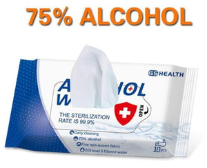 Alcohol prevent 10sheets Pack Wet Wipes Disinfection Portable Alcohol Swabs Pads Wipes Antiseptic Cleanser Sterilization 600PCS