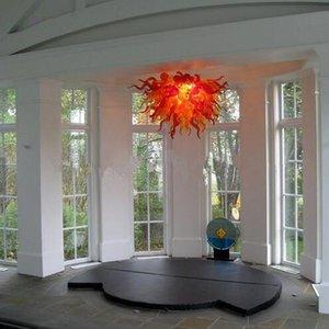 Italie Conçu Custom Made Lustre Blown Rouge colorisée en verre pour éclairage Accueil Cuisine Bed Room Decor